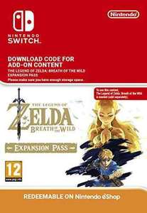 The Legend of Zelda: Breath of the Wild Expansion Pass DLC [Switch Download Code] @ Amazon - Pre Order - £17.99
