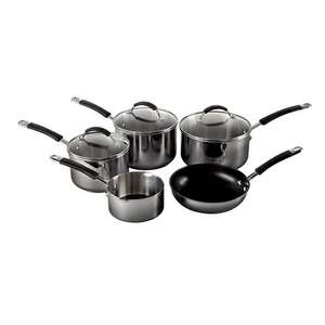 Raymond Blanc stainless steel 5 piece pan set - 70%off - £66 @ debenhams (Free C&C)