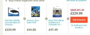PS4 500GB (WHT/BLK) / HORIZON DAWN / V2 CONTROLLER (Any Colour) £229.99 Tesco Direct