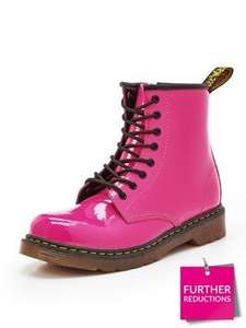 Dr Martens Older Kids Pink Patent Lace Boots - Very - £18