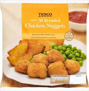 Tesco Breaded Chicken Nuggets (30 per pack - 60g Chicken Breast = 450g) was £1.50 now £1.20 @ Tesco