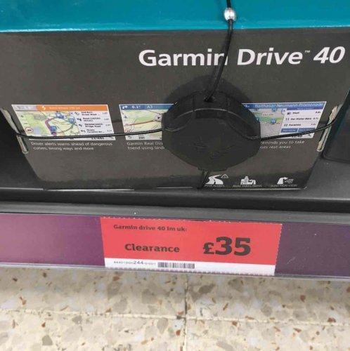Garmin Sat nav @ Sainsbury's Moor Allerton Leeds - £35 instore
