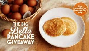 Free Pancakes at Bella Italia on Tuesday 28th of Feb