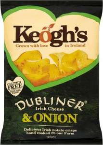 Keogh's Potato Crisps - Dubliner Irish Cheese & Onion / Keogh's Potato Crisps - Atlantic Sea Salt & Irish Cider Vinegar (125g) was £2.00 now any 2 packs for the price for of 1 @ Tesco