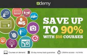 Udemy Online Learning - HUGE sale - many courses on sale for £10  ENDS TODAY