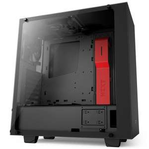 NZXT S340 Elite Case - Black/Red (Ryzen) - £74.99 / £86.69 delivered @ Overclockers