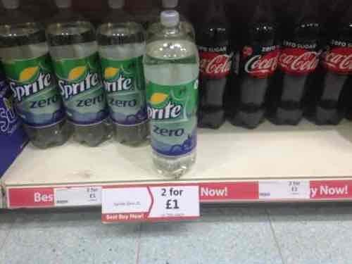 2 bottles of Sprite Zero/Irn Bru/Diet Irn Bru 2 litres or Coke Zero 1.75 litre for £1! @ Heron