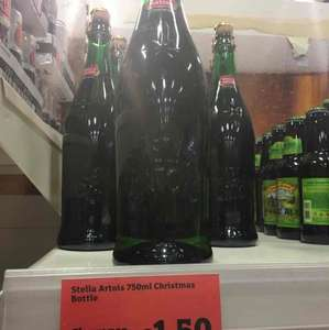 Stella Artois Christmas bottle 750ml £1.50 @ Sainsbury's - Pontypridd