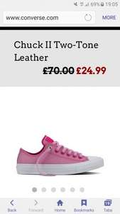 Converse chuck ll pink leather less than half price £24.99