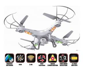 X5C 2.4G 4CH RC Explorers Quadcopter 6 Axis Heli Drone with HD Camera £48.99 delivered @ ebay playtec ltd