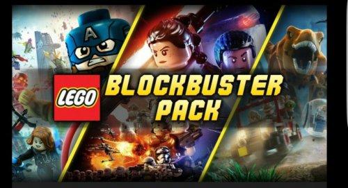 lego blockbuster pack force awakens, jurassic world, avengers @ bundle stars - £8.59