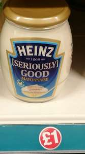 Poundland: Heinz seriously good mayonnaise 460g. £1