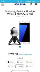 Samsung s7 edge and free gear 360 camera £597 at Samsung Store