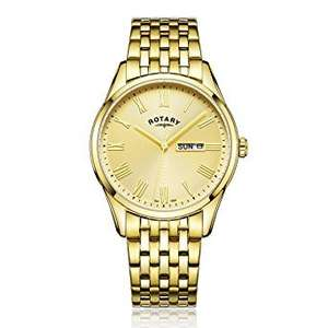 Rotary Men's Quartz Watch with Gold Dial Analogue Display and Gold Stainless Steel Bracelet GB00354/09 - £26.95 delivered from Amazon DE