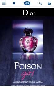 Dior Poison Girl EDT Request a Sample at Boots