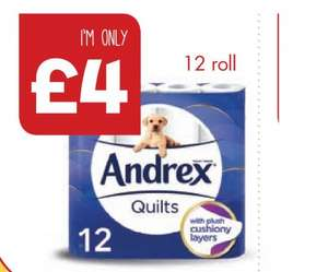 Andrex Quilted Toilet Rolls x 12 £4.00 @ One Stop