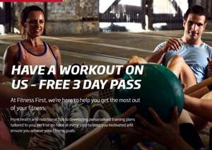 FREE 3 Day Gym Pass For You and a Friend @ Fitness First