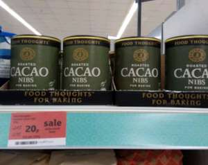 Food Thoughts Roasted Cacao Nibs - 20p instore @ Sainsburys