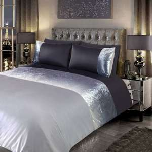 Ombre Crushed Velvet Double Duvet Set Was £20 Now £1 @ B&M Instore
