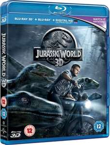 Jurassic World (Blu-ray 3D + Blu-ray) [2015] £3.99 prime / £5.98 non prime @ Amazon
