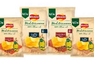 Walkers Mediterranean Lightly Salted Crisps(140g) / Walkers Mediterranean Salt Crisps (6 x 25g) ONLY £1.25 @ Sainsbury's