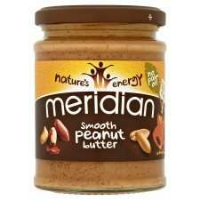 Meridian Natural Smooth / Crunchy Peanut Butter (280g) £1 @ Tesco