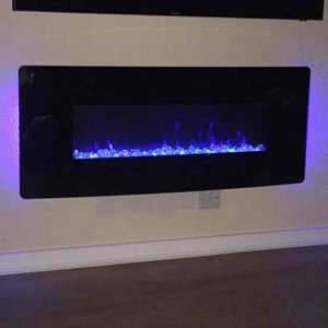"Muskoka Curved wall mount Fire 42"" Electric £83.96 inc VAT at Costco RRP £155"