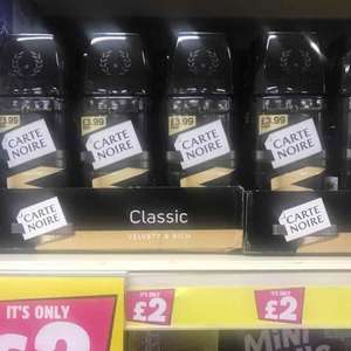Carte Noire Classic Instant Coffee 100g £2 - Poundland
