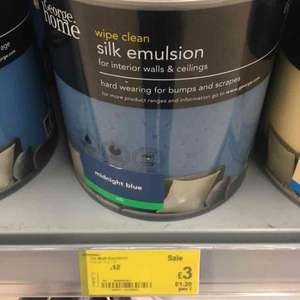 Asda various 2.5ltr paints were £12 now £3 - Cribbs Causway, Bristol