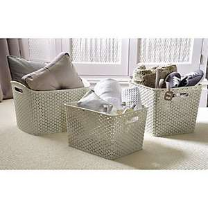Half price rattan effect storage @ Lakeland - items from 99p (Free C&C)