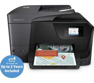 HP 8715 all in one printer/scanner with 2 years ink, £25 cashback and 3 year warranty, £124.99 (£99.99 after cashback) at Currys