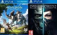 Horizon: Zero Dawn + Dishonored 2 PS4 - £49.98 inc. delivery @ Sainsbury's (new customers only)