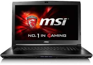 MSI 17.3 Inch FHD Gaming Laptop (Black) - (Intel i7 7700HQ, 16 GB DDRIV RAM, 128 GB SSD, 1 TB HDD, GTX 960M Graphics Card, Windows 10) - £899 @ saveonlaptops