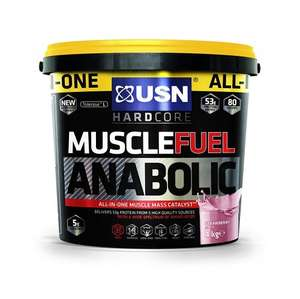 USN 4kg Muscle Fuel Anabolic Lean Muscle Gain £39.99 Amazon