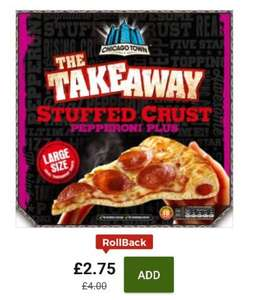 Chicago Town Large Takeaway Pepperoni Stuffed Crust Pizza 645g £2.75 @ asda