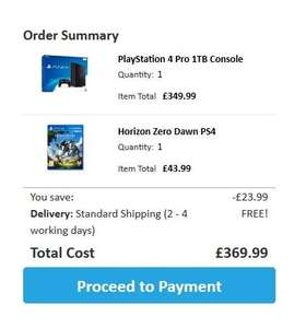 PS4 Pro + Horizon Zero Dawn £369.99 @ Smyths Online + Free delivery