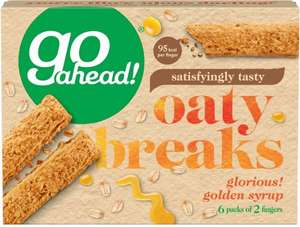 Go Ahead! Golden Syrup Oaty Breaks (6 = 248g) was £1.65 now £1.00 @ Sainsbury's