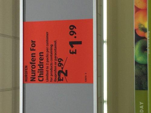 Nurofen for children £1.99 at Aldi