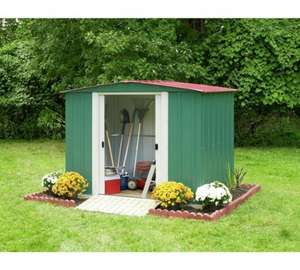 Arrow Apex Metal Garden Shed - 8 x 6ft. 10 years guarantee. £139.99 +  £6.99 Delivery - Argos
