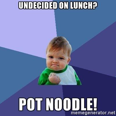 Pot Noodle 90g  - many flavours  - 60p @ Tesco