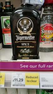jagermeister Spice 70cl £11.29 Tesco In store