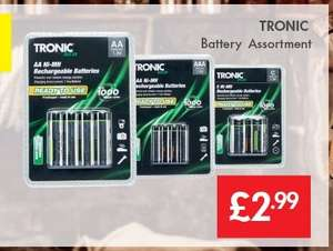 Ready To Go Rechargeable Batteries Packs Of 4 AA Or AAA £2.99 @ Lidl  9th March