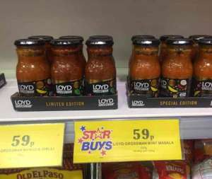 Loyd Grossman Masala Cooking Sauce 350g Jar - 2 Varieties - Home Bargains in store 59p