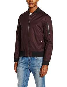 New Look Men's Bomber Jacket (Dark Burgundy) Sizes S, M & L £7.66 (Prime) / £12.41 (non Prime) at Amazon