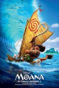 Disney's Moana added to Movies for Juniors @ Cineworld only £2.50