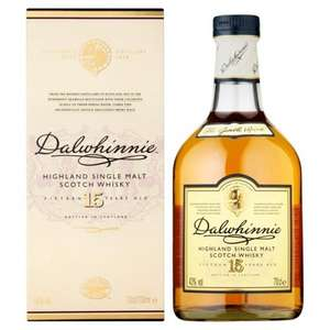 Dalwhinnie 15YO single malt Scotch whisky £21 in Tesco instore (not nationwide but widespread confirmed)
