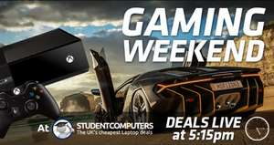 Gaming Weekend Deals live at 5:15pm @ Student Computers