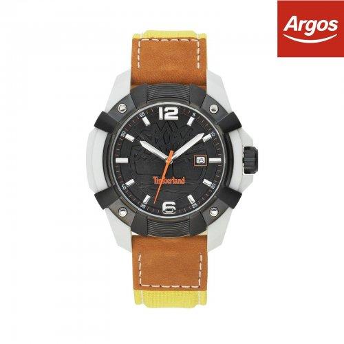 Timberland Men's Chocorua Black Dial Leather Strap Watch  £18.39  argos ebay store