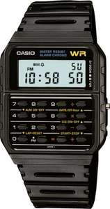 Casio CA53W-1 Black Dial Calculator Retro Watch - Black £14.99 (Prime)/ £18.98 (Non-Prime) Sold by Supreme Watches and Fulfilled by Amazon