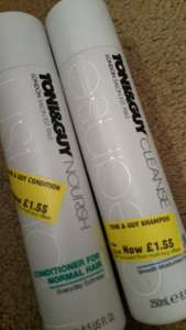 Toni & Guy shampoo and conditioners reduced instore @ morrisons for £1.55